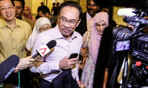 Malaysian opposition leader Anwar Ibrahim on 10 February 2015.