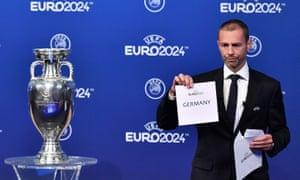 Uefa's president, Aleksander Ceferin, reveals that Germany will host Euro 2024.