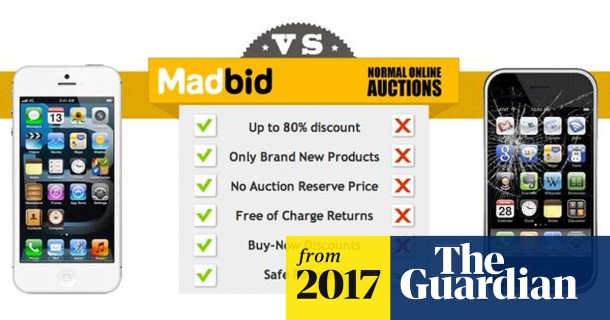Six Auction Sites Ads Banned Over Misleading Savings Claims Online Shopping The Guardian