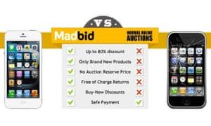 Auction site MadBid