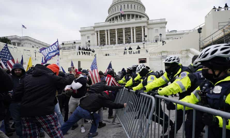 Some elected Republicans have rewritten history in record time by recasting the 6 January mob as akin to peaceful tourists.