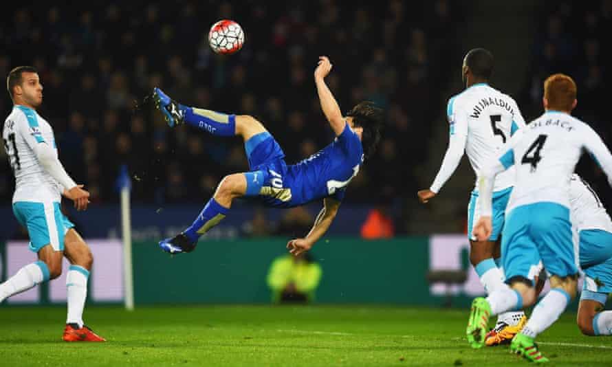 Shinji Okazaki scores Leicester's winner at home to Newcastle