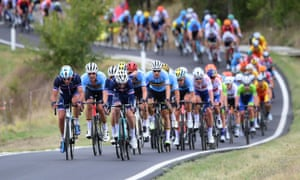 Imola, Italy France's Nans Peters (L) leads during the Men's Elite Road Race of the UCI Road World Championships