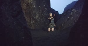 A still from Björk's virtual reality clip for Black Lake.