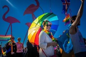 The Reykjavik Pride 2014 parade.