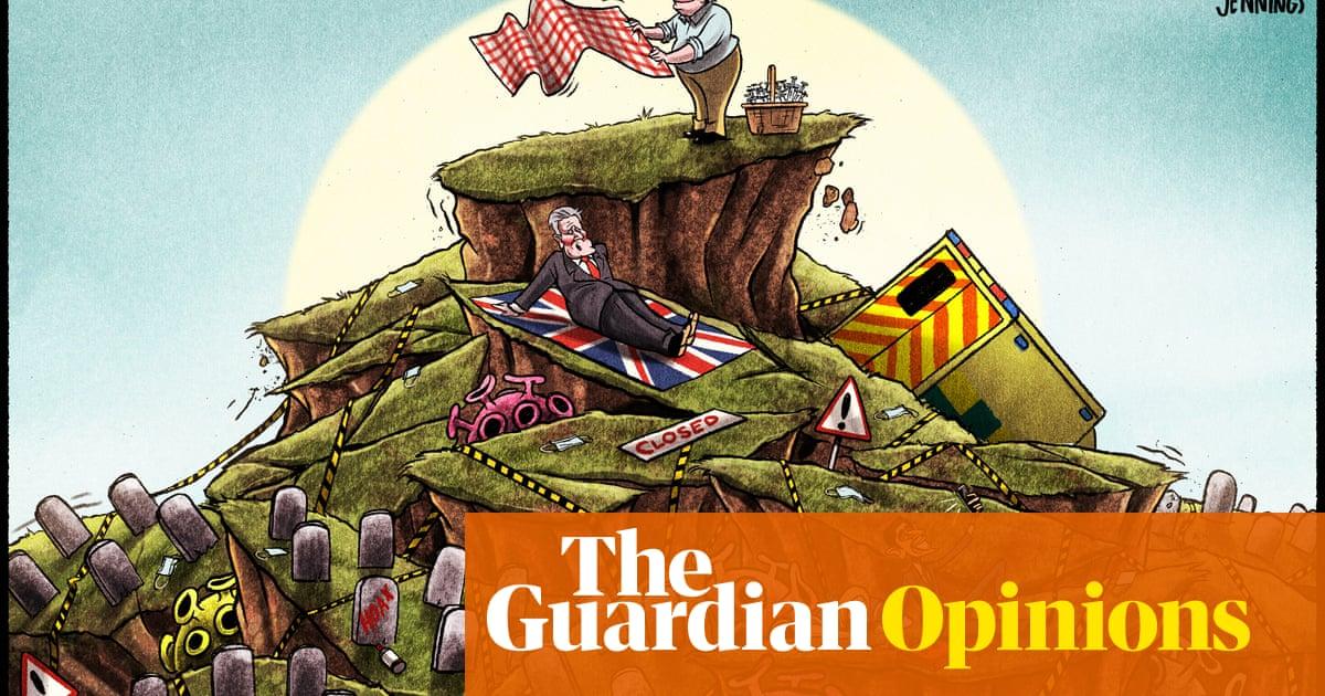 Ben Jennings on Boris Johnson's sunlit uplands — cartoon