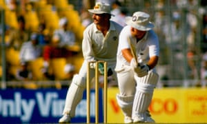 Mike Gatting chooses the wrong moment to sweep Allan Border in the 1987 final at Eden Gardens