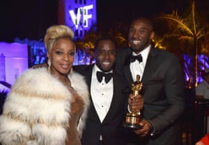 Mary J Blige, Sean Combs and Kobe Bryant at the Vanity Fair party