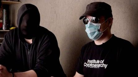 German crypto-arnarchists Smuggler, left, and Frank