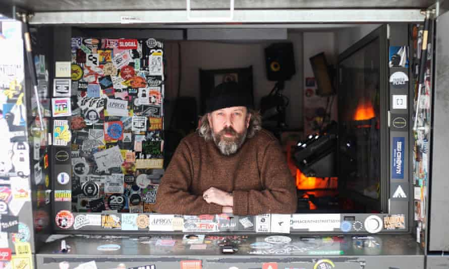 Andrew Weatherall in the NTS Radio booth