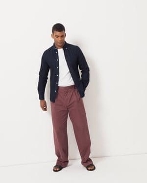 Model wears denim shirt, £170, acnestudios.com. T-shirt, £40, by It's All Good Folk, from johnlewis.com. Trousers, £69, cosstores.com. Sandals, £17.99, hm.com