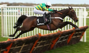 Buveur D'Air clears the last hurdle on his way to winning the Aintree Hurdle on Grand National day.