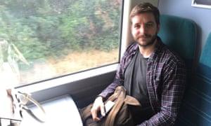 Commuter on a Southern rail train