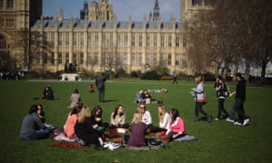 Victoria Tower Gardens in Westminster, London