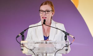 Professor Dame Sarah Gilbert attends the the Veuve Clicquot Bold Woman of the Year Award 2021 at RIBA.