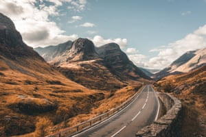 First prize Three Sisters of Glencoe, in the Highlands of Scotland, in autumn by Milena Farajewicz.