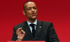 Clive Lewis speaks at the Labour conference