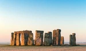 Stonehenge on Salisbury Plain in Wiltshire.
