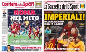 The front pages of Corriere dello Sport and La Gazzetta dello Sport on Wednesday morning.