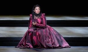 Vuvu Mpofu in a production of Donizetti's Maria Stuarda in Cape Town last year.