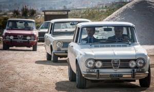 The Alfa Romeos go beautifully with detective Maltese's moustache.