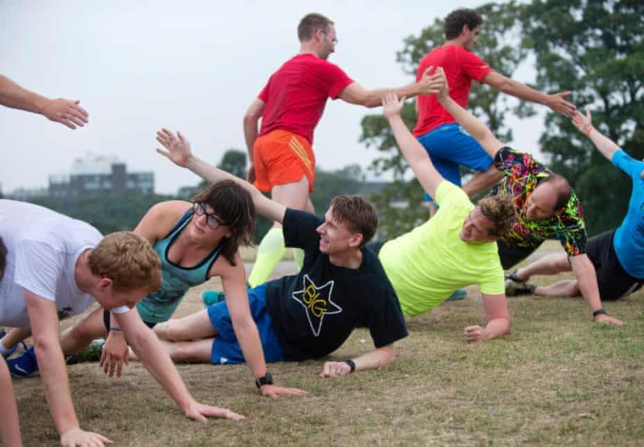 High fives and press-ups make for a 'fun, badass workout.'