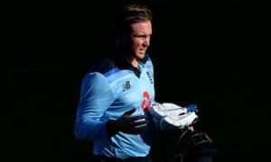 Jason Roy of England walks off after being dismissed