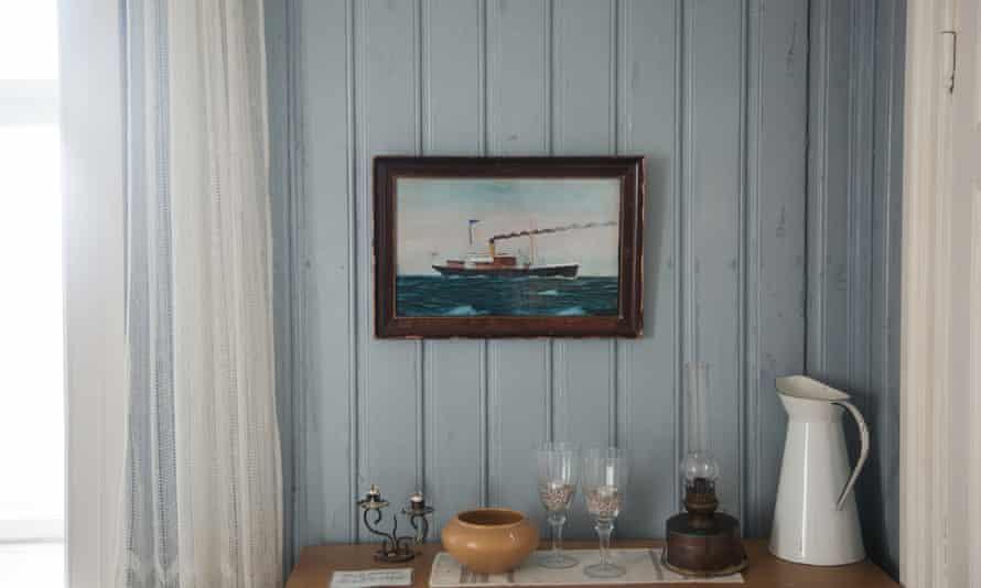 Blue yonder: Inside the old lightkeeper's house.