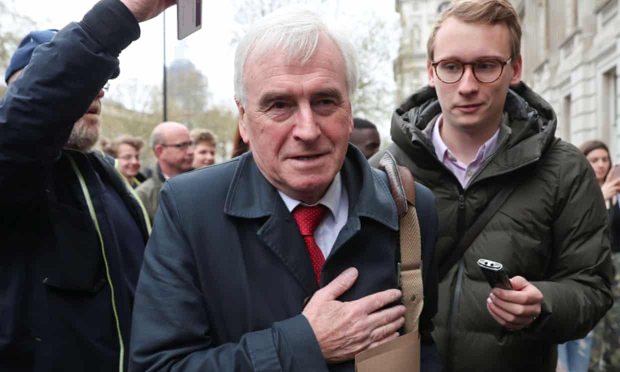 Labour's John McDonnell arrives at the Cabinet Office for Brexit talks