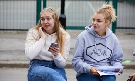 Caitlin Murphy, left, with her friend Maddie Grieveson