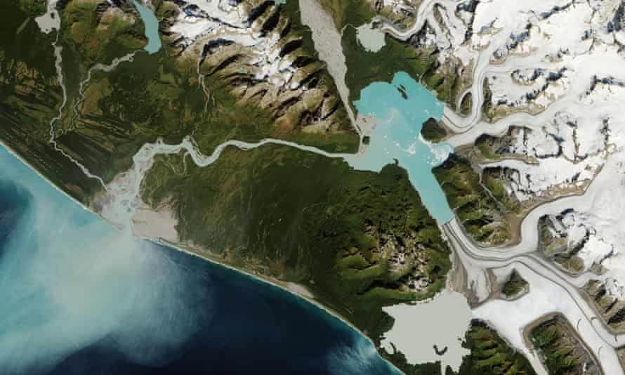 The mouth of the Alsek River is forecast to shift 20 miles south from its current location in Glacier Bay national park and preserve in Alaska.