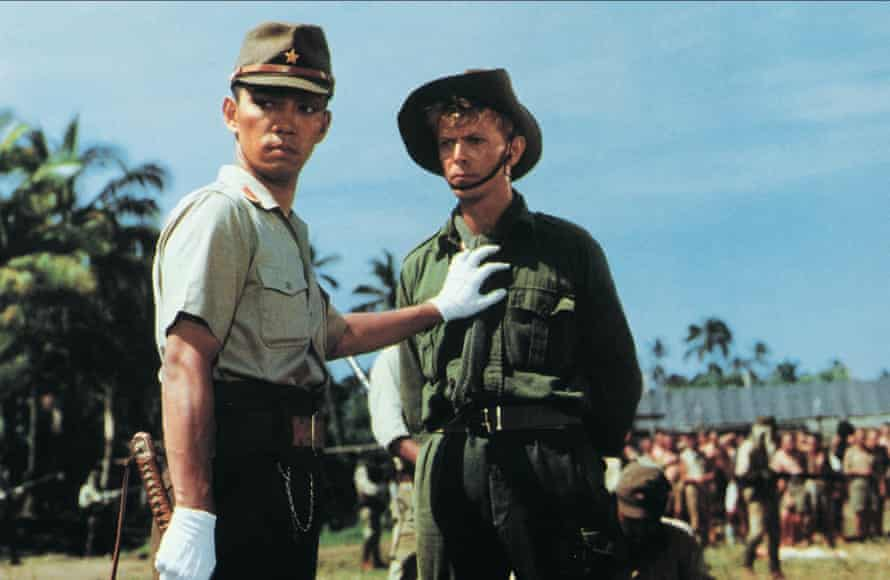 Sakamoto and David Bowie in Merry Christmas, Mr Lawrence (1983).