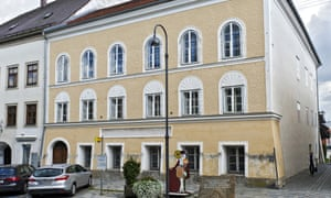 The house were Adolf Hitler was born in Braunau, Austria, as photographed in 2012