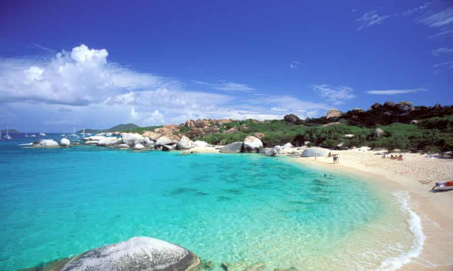 A beach in the British Virgin Islands