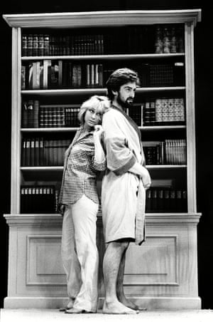 Felicity Kendal and Roger Rees in The Real Thing at the Strand theatre, London, in 1982.
