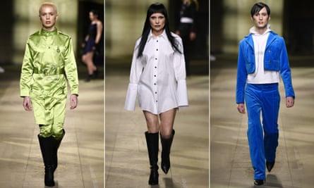 Art School on the catwalk at London fashion week men's.