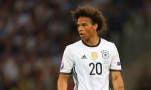 Schalke's Leroy Sané has four caps for Germany.