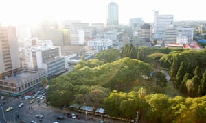 Harare has a lot of green.
