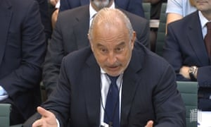 Sir Philip Green gives evidence to the work and pensions committee following the collapse of BHS.