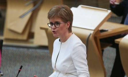 Nicola Sturgeon at the Scottish parliament.