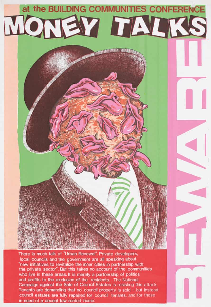 Money Talks poster, 1987, by John Phillips