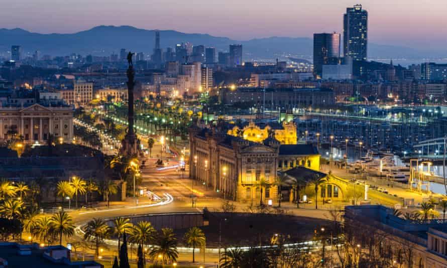 Barcelona at night.