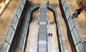 A near-empty shopping mall in Melbourne, Australia