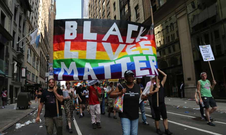 The People's Power Assemblies & Workers World Contingent at the 2017 New York City Pride march.