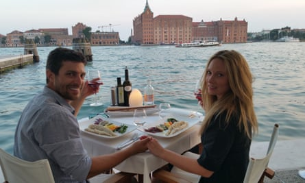 Rachael & Jonny Casella when they got engaged