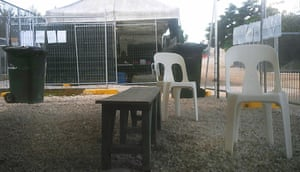 Asylum seekers held at the Nauru detention centre still live in tents.