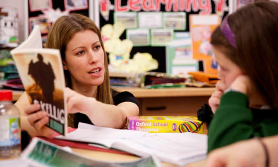A teacher at Lightwoods Primary School in Oldbury, West Midlands.