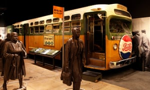 The Montgomery Bus Boycott exhibit at the National Civil Rights Museum in Memphis, Tennessee