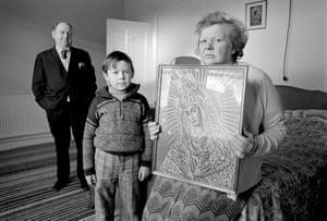 Tadeusz, Józef and Helena, Loughborough, England, 1976