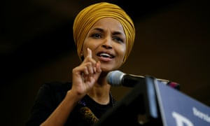 Ilhan Omar in Nashua, New Hampshire, on 13 December 2019.
